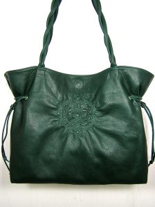 green large tote